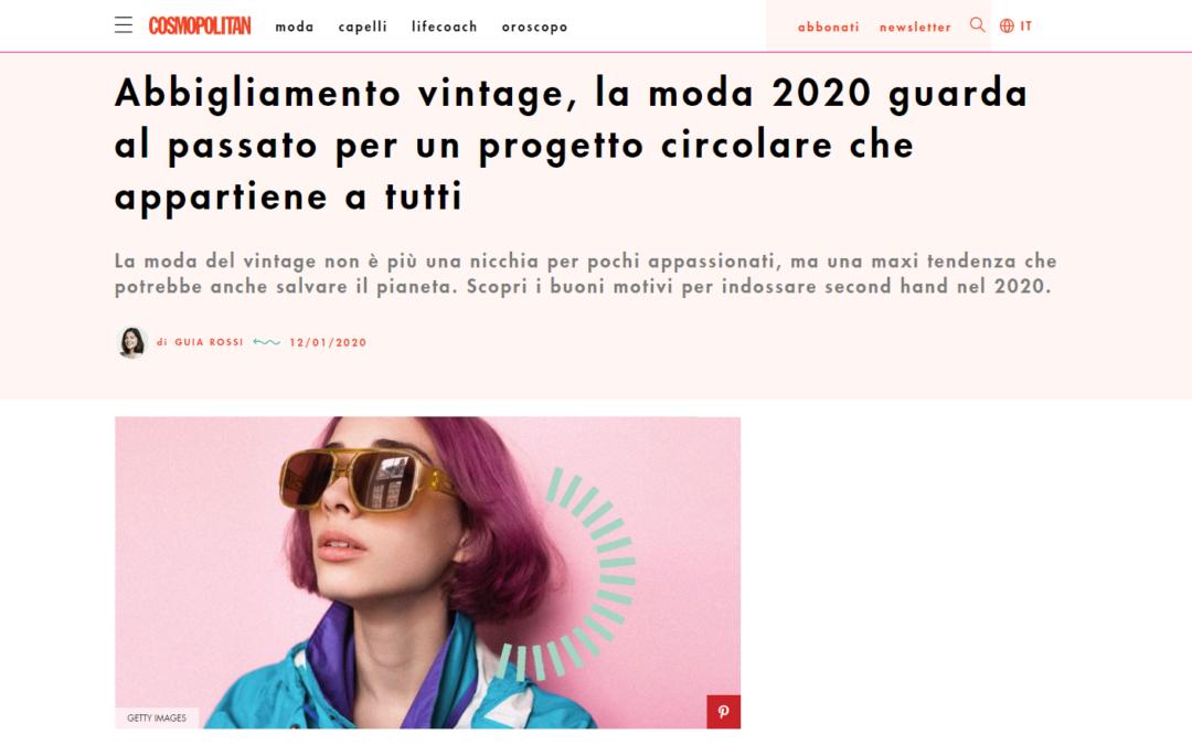 Per Cosmopolitan siamo fra i must Vintage del 2020!